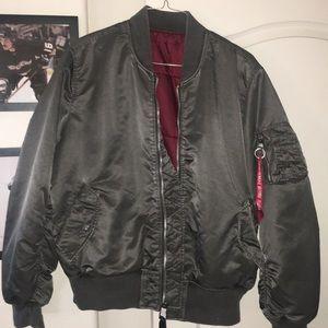 Alpha Industries MA-1 Blood Chit Grey Jacket